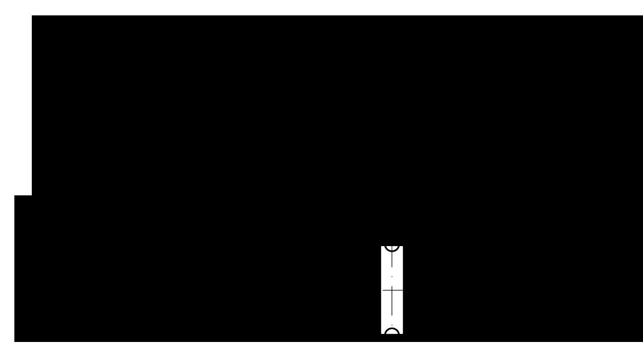 Однорядная роликовая цепь с прямыми пластинами и обозначения размеров