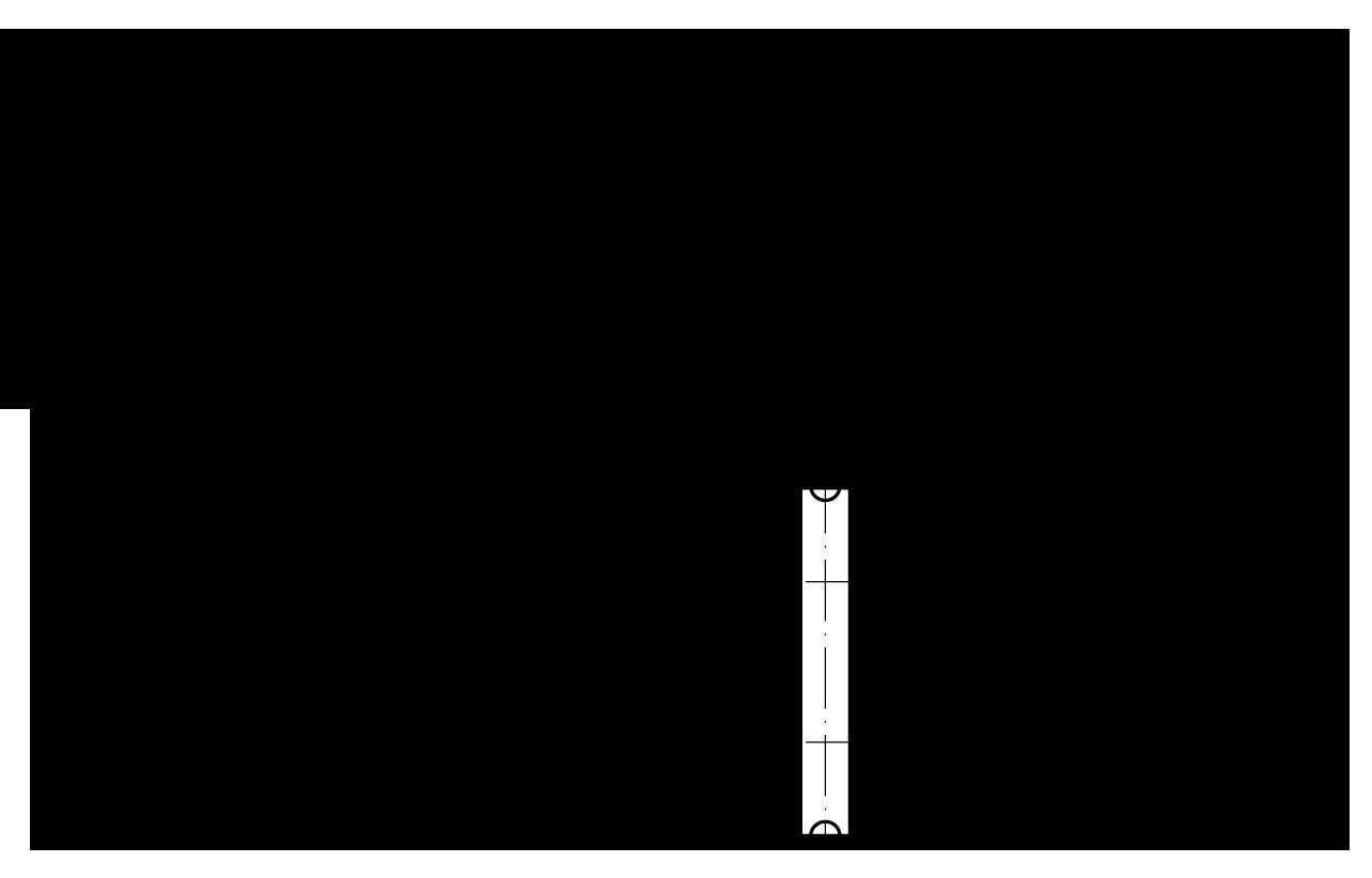 Двухрядная роликовая цепь с прямыми пластинами и обозначения размеров